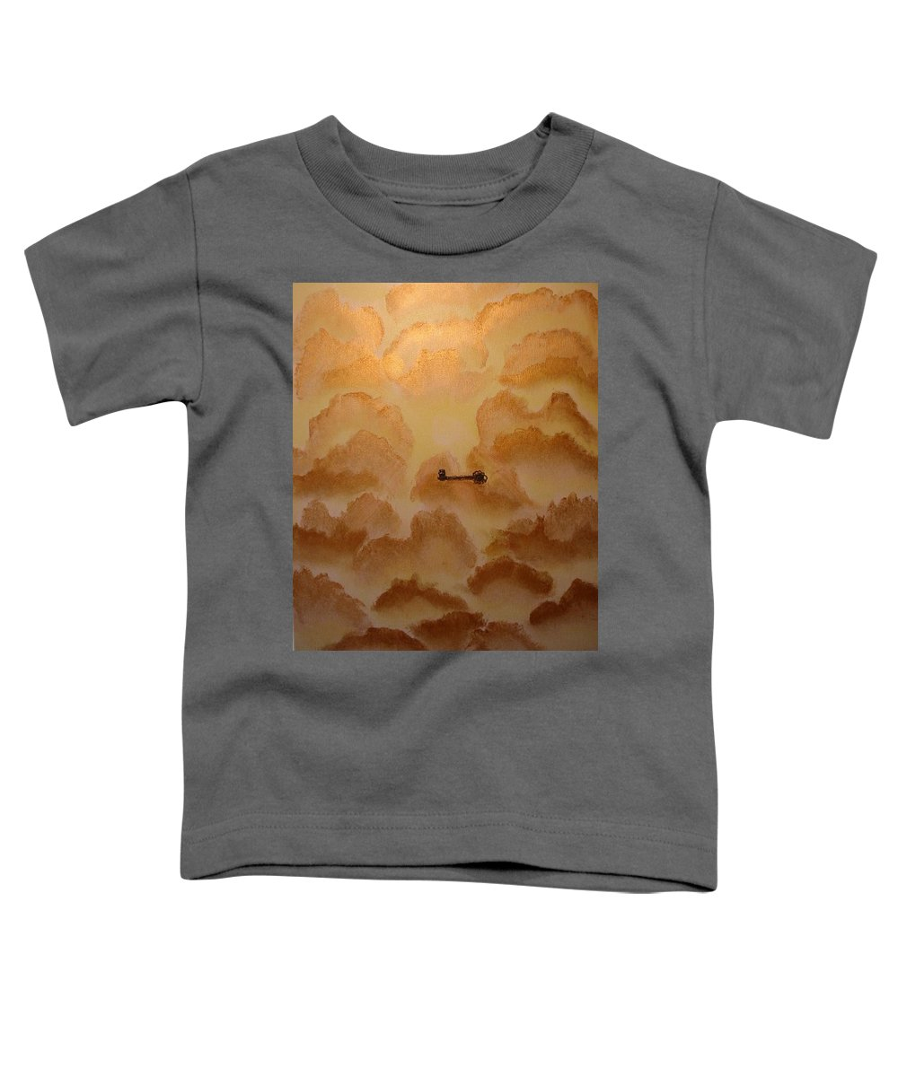 Gold Toddler T-Shirt featuring the painting Keys To The Kingdom by Laurie Kidd