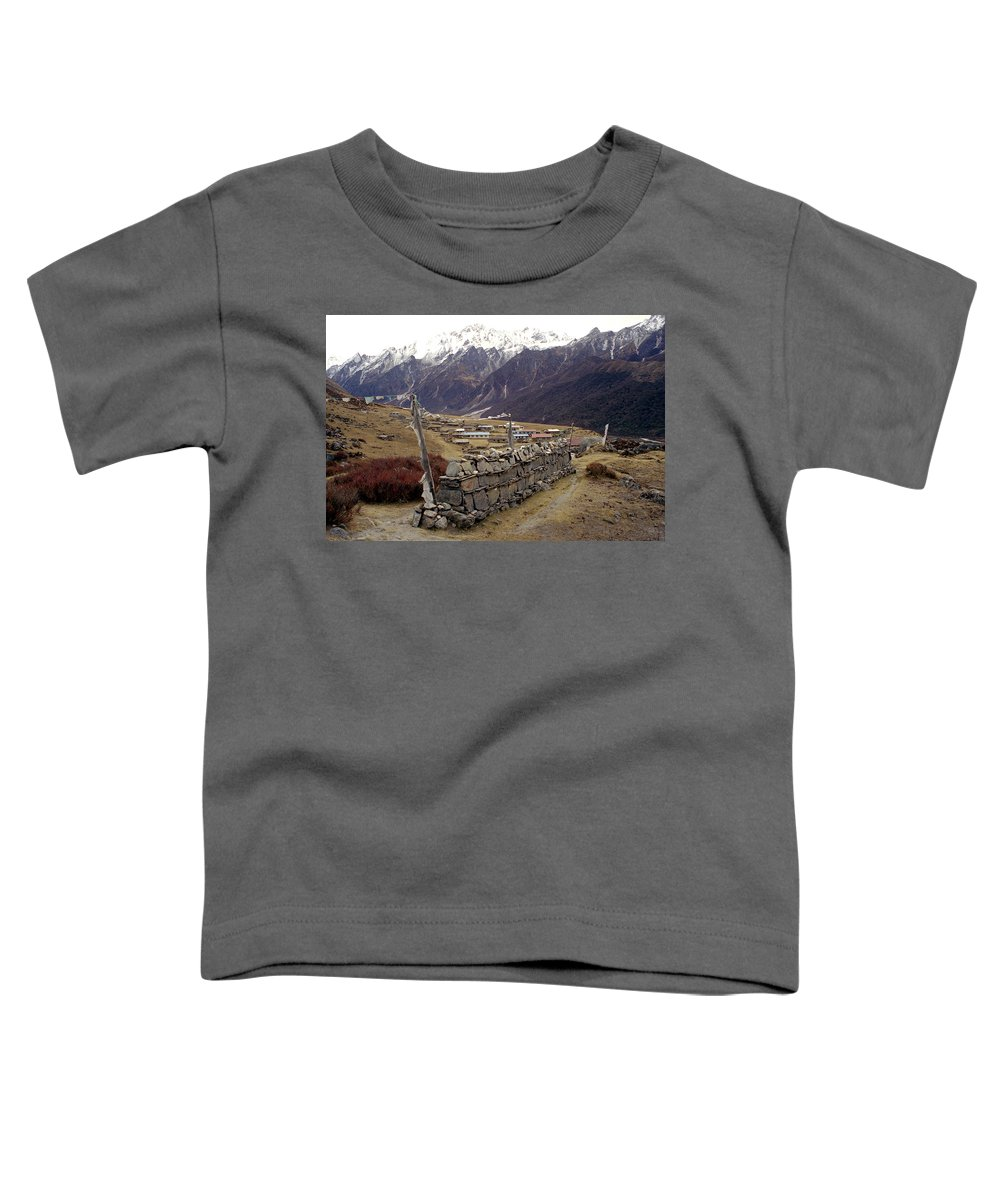 Langtang Toddler T-Shirt featuring the photograph Kyanjin Gompa by Patrick Klauss