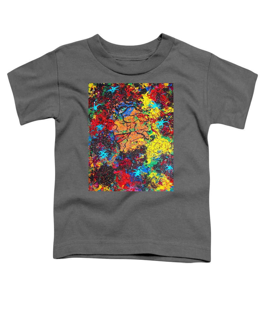 Woman Toddler T-Shirt featuring the painting Lady Of Mystery by Natalie Holland