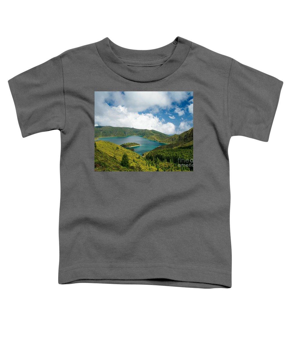 Lagoa Do Fogo Toddler T-Shirt featuring the photograph Lagoa Do Fogo by Gaspar Avila