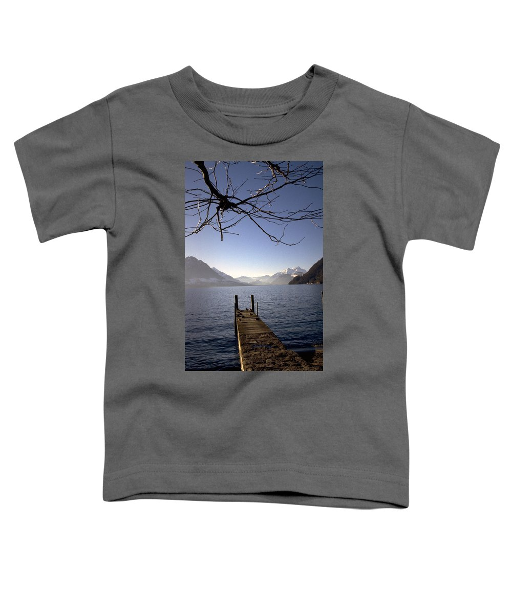 Lake Lucerne Toddler T-Shirt featuring the photograph Lake Lucerne by Flavia Westerwelle