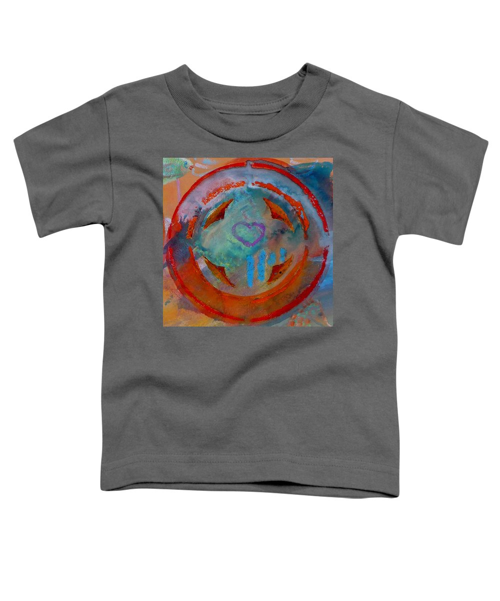 Love Toddler T-Shirt featuring the painting Landscape Seascape by Charles Stuart