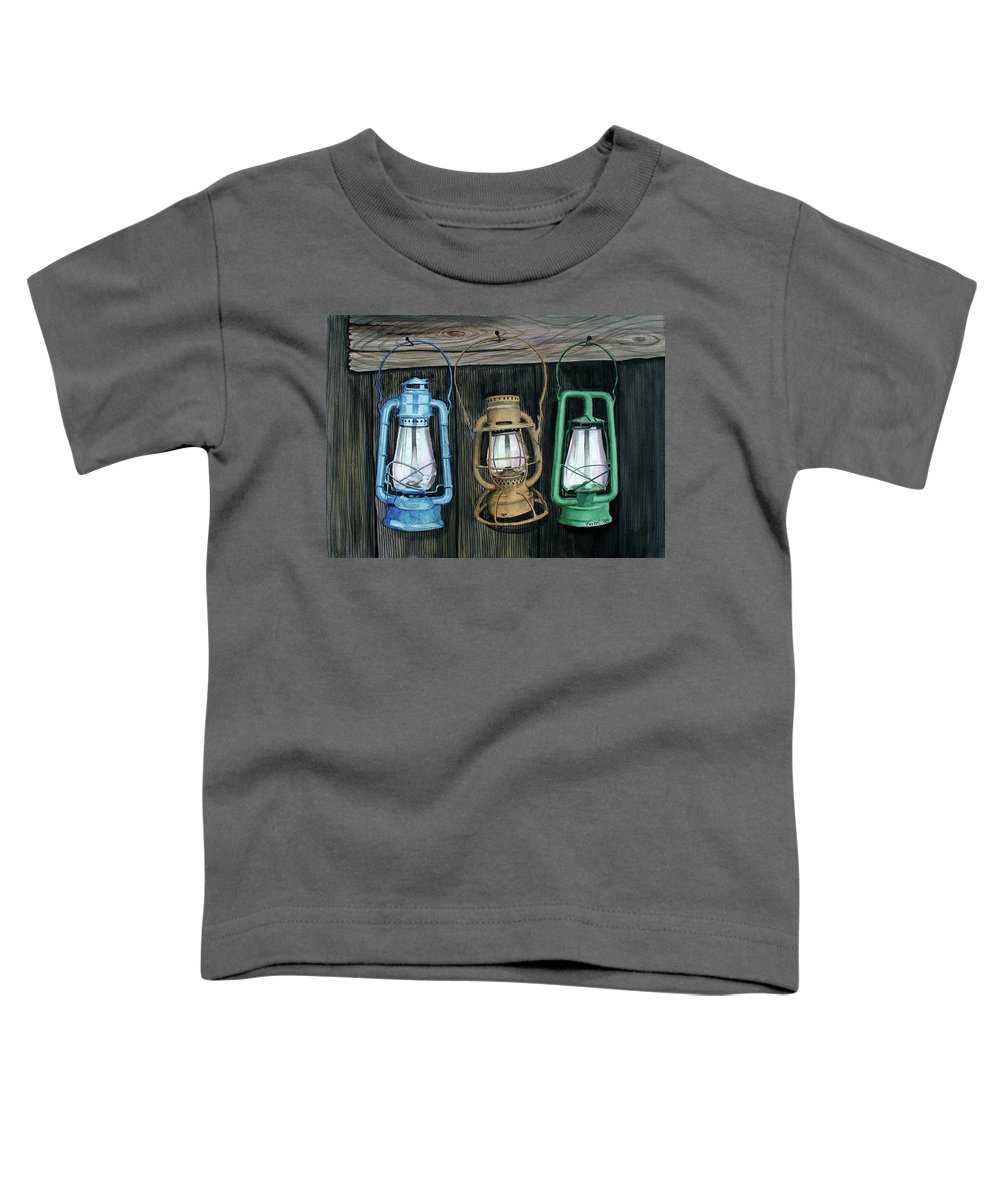 Lanterns Toddler T-Shirt featuring the painting Lanterns by Ferrel Cordle