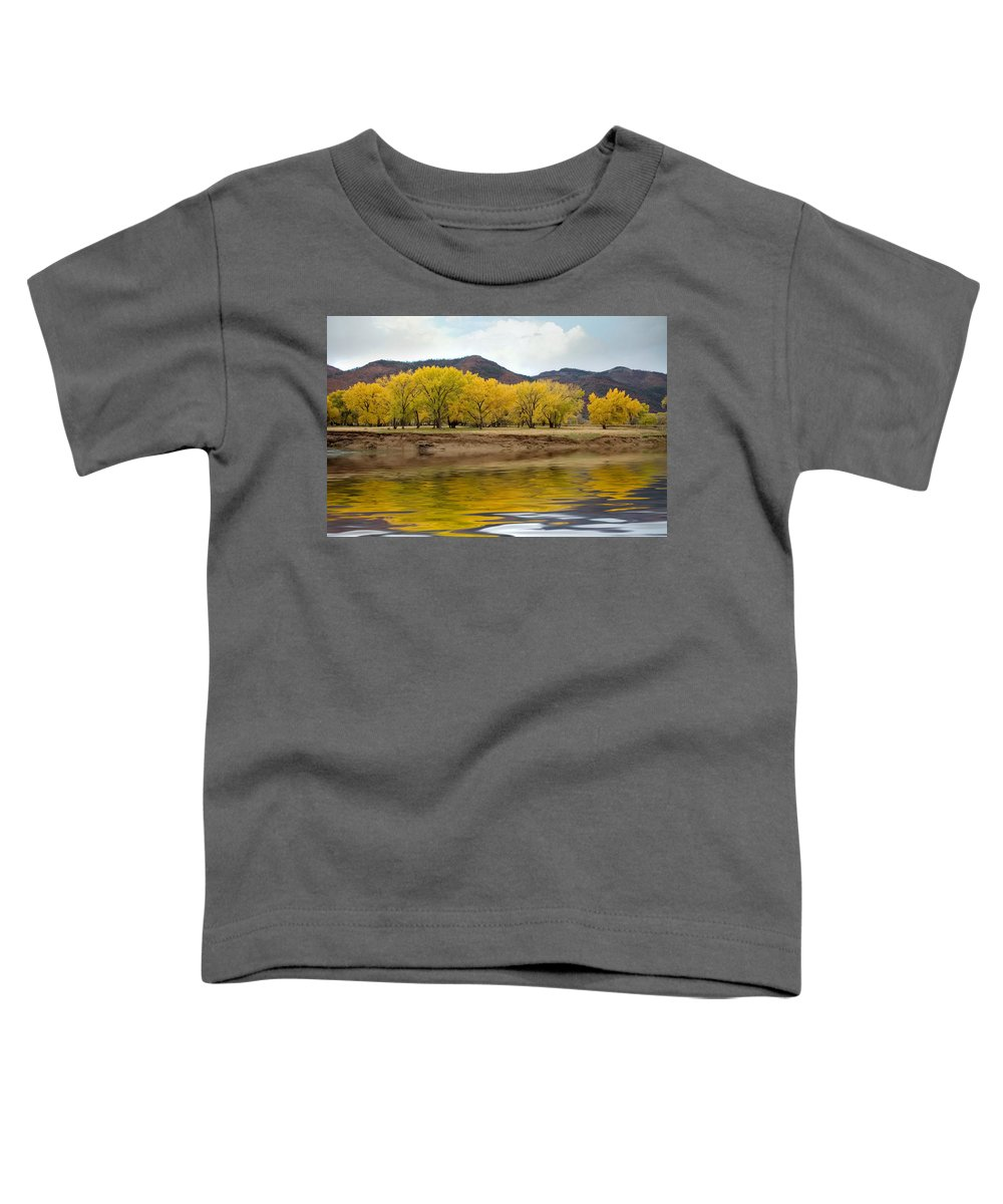 River Toddler T-Shirt featuring the photograph Las Animas Fall by Jerry McElroy