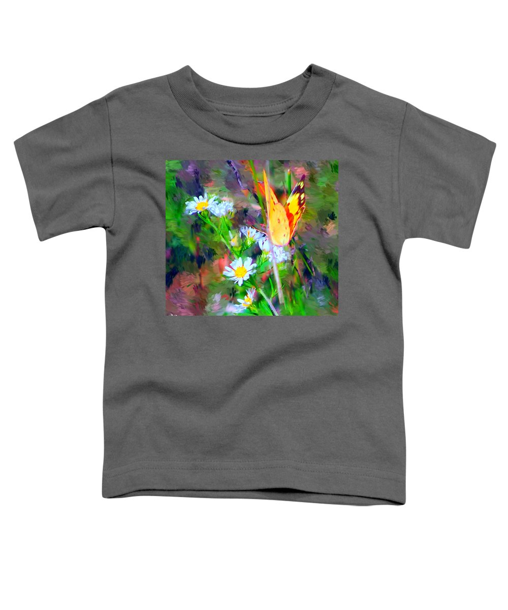 Landscape Toddler T-Shirt featuring the painting Last Of The Season by David Lane