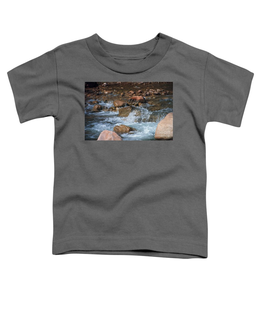 Creek Toddler T-Shirt featuring the photograph Laughing Water by Kathy McClure
