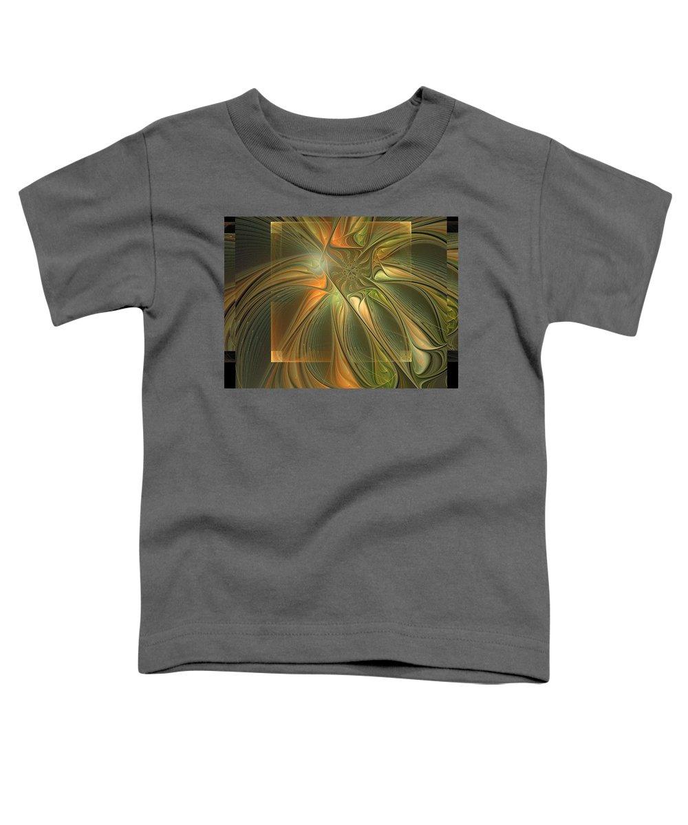 Digital Art Toddler T-Shirt featuring the digital art Layers by Amanda Moore