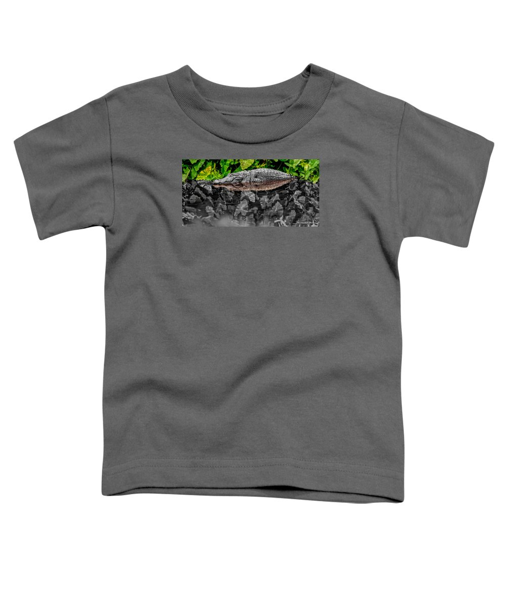 American Toddler T-Shirt featuring the photograph Let Sleeping Gators Lie - Mod by Christopher Holmes