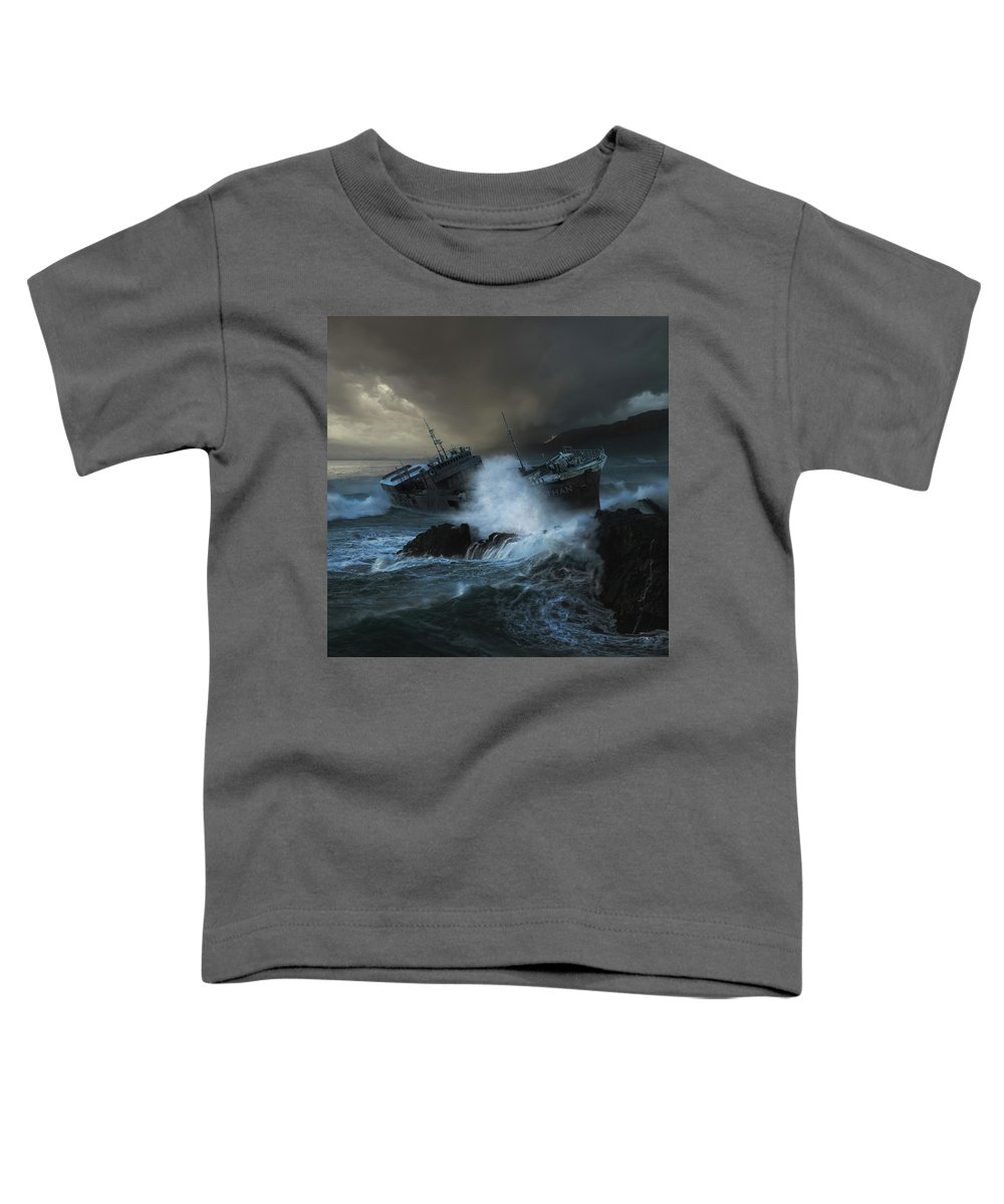 Sea Toddler T-Shirt featuring the photograph Leviathan by Michal Karcz