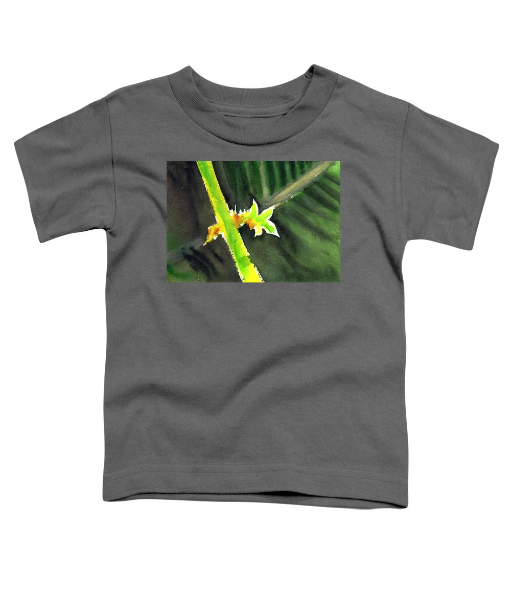 Water Color Toddler T-Shirt featuring the painting Light Branch by Anil Nene