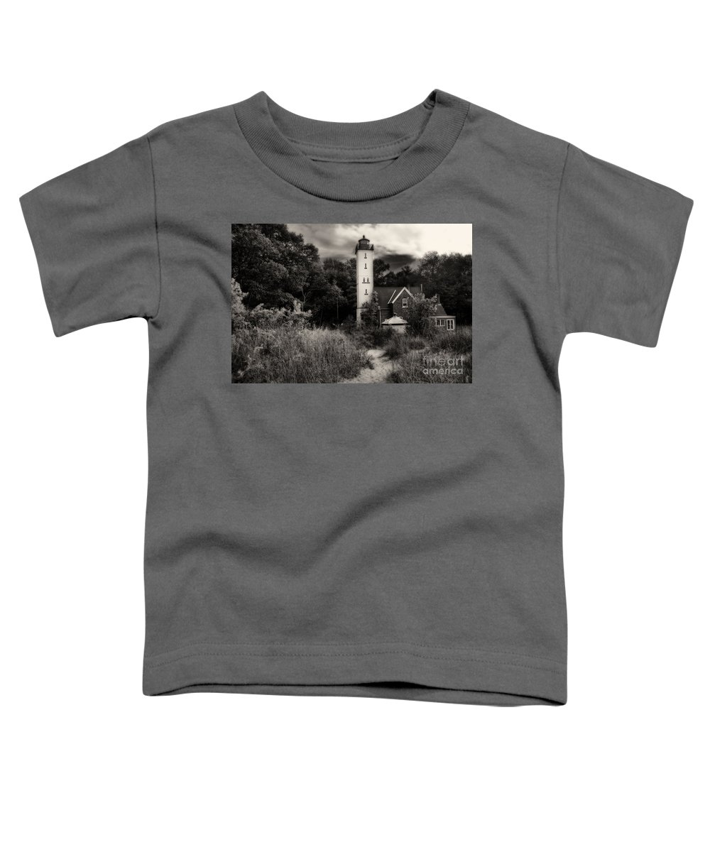 Lighthouse Toddler T-Shirt featuring the photograph Light House by Gaby Swanson