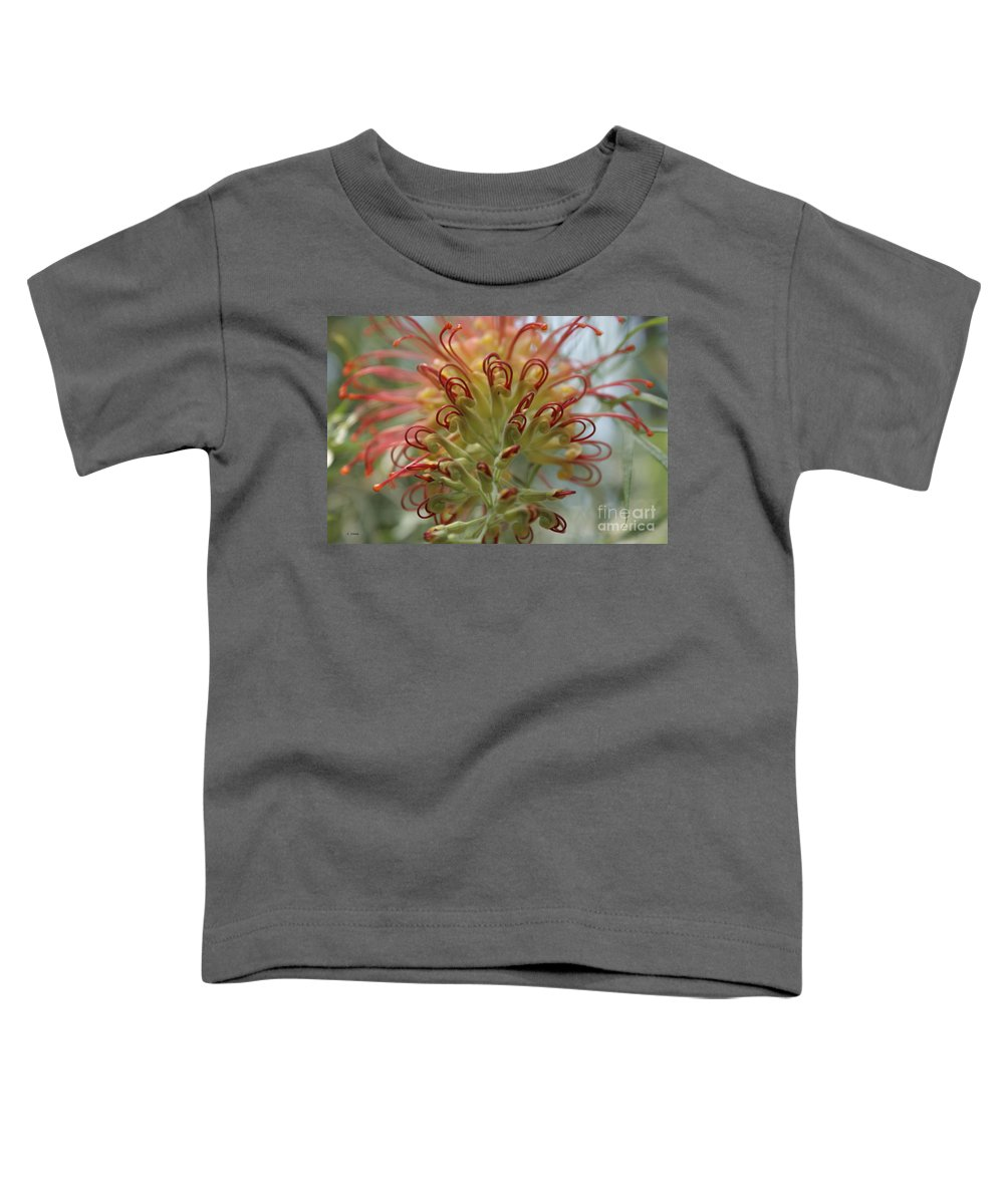 Floral Toddler T-Shirt featuring the photograph Like Stems Of A Cherry by Shelley Jones