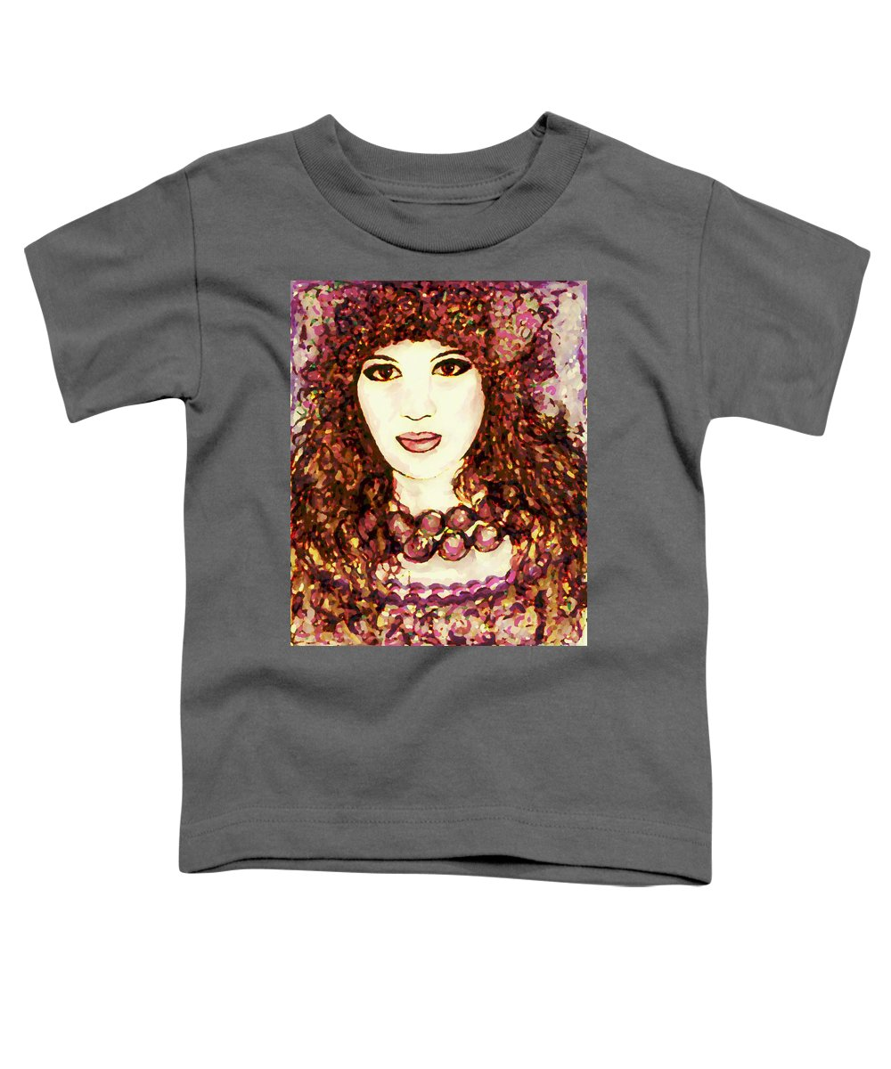 Woman Toddler T-Shirt featuring the painting Lilac by Natalie Holland