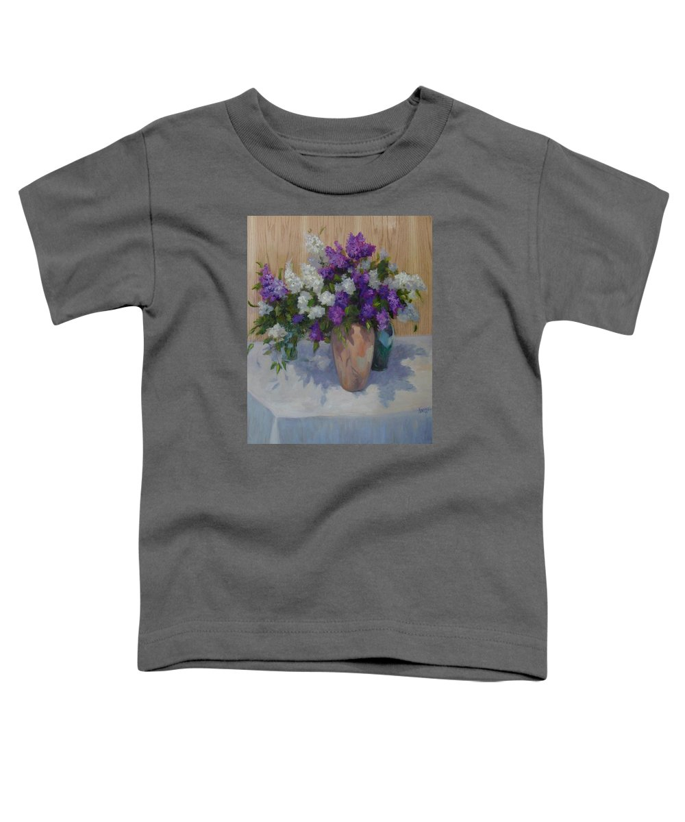 Lilacs Toddler T-Shirt featuring the painting Lilacs by Patricia Kness