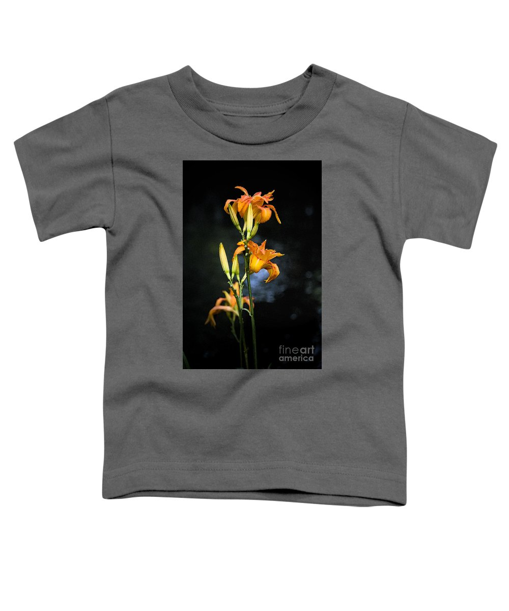 Lily Monet Garden Flora Toddler T-Shirt featuring the photograph Lily In Monets Garden by Sheila Smart Fine Art Photography