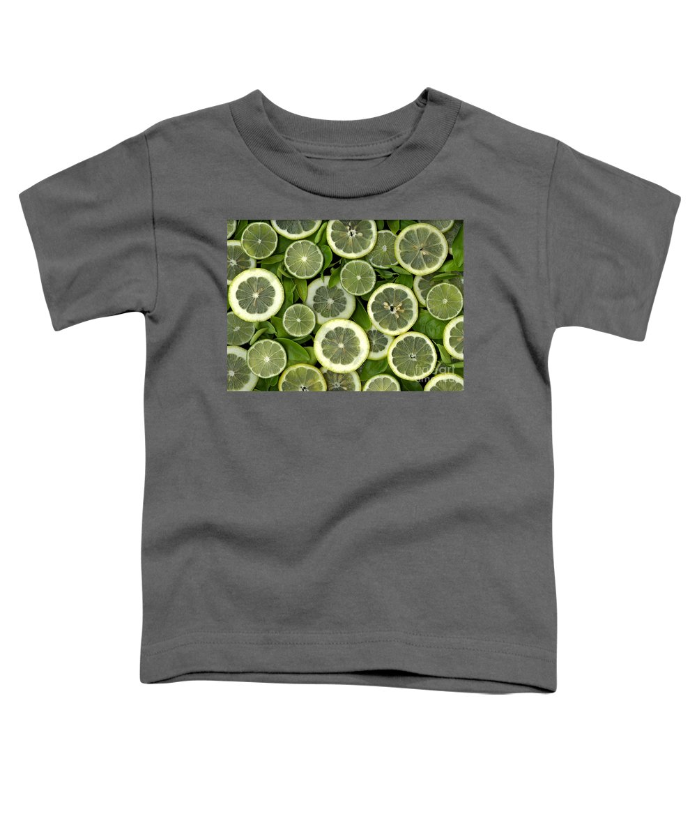 Scanography. Slanec Toddler T-Shirt featuring the photograph Limons by Christian Slanec