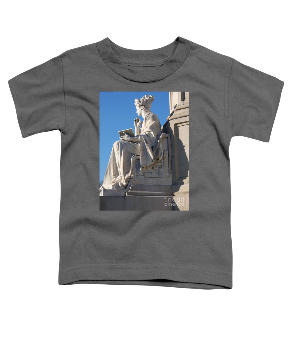 Lincoln Toddler T-Shirt featuring the painting lincoln statue Gettysburg PA by Eric Schiabor