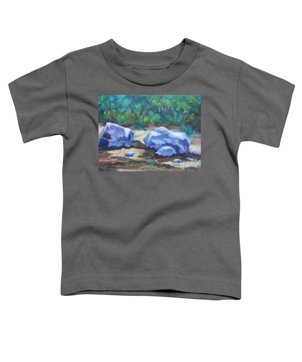 Expressionist Landscape Toddler T-Shirt featuring the painting Lindenlure by Jan Bennicoff