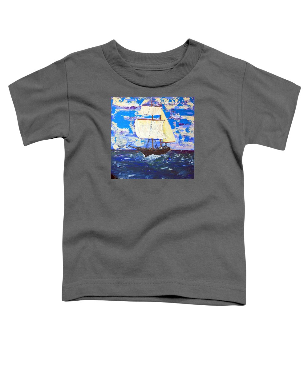 Clipper Toddler T-Shirt featuring the painting Little Clipper by J R Seymour