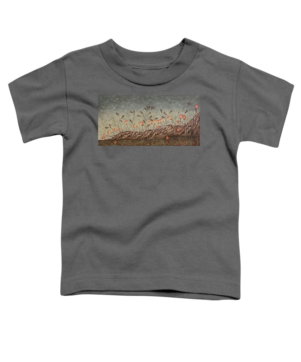 Sex Toddler T-Shirt featuring the painting Little Gods by Judy Henninger