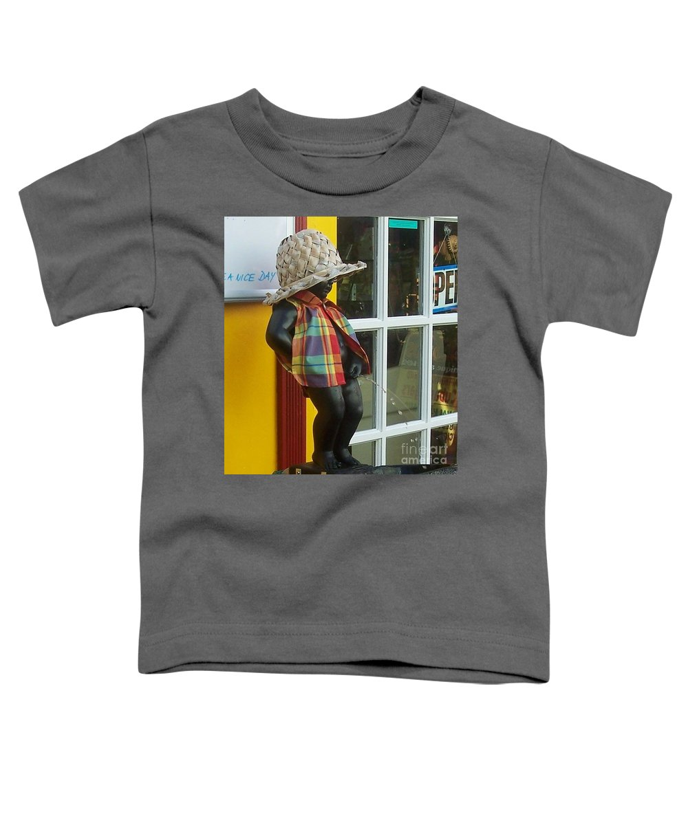 Fountain Toddler T-Shirt featuring the photograph Little Wiz by Debbi Granruth