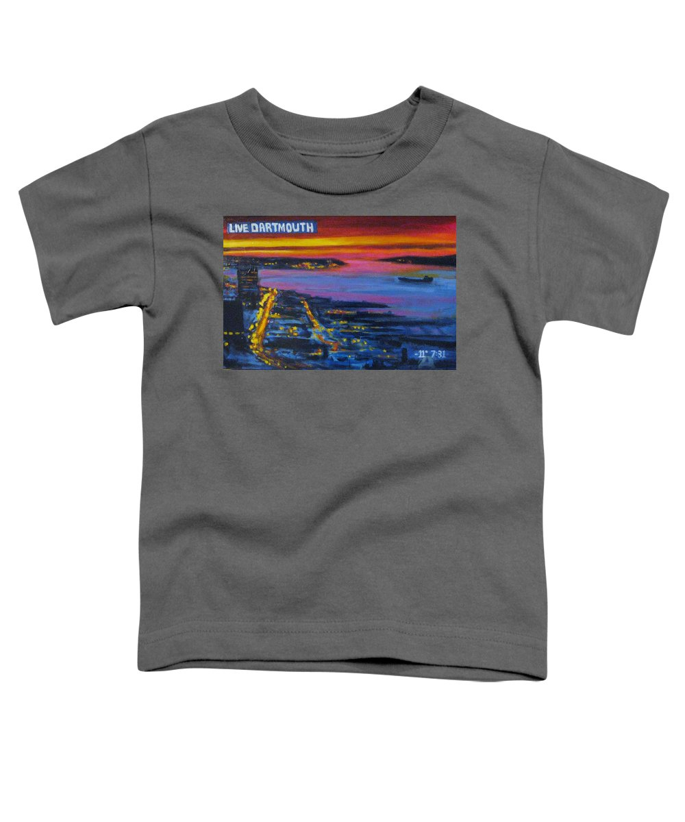 Night Scenes Toddler T-Shirt featuring the painting Live Eye Over Dartmouth Ns by John Malone