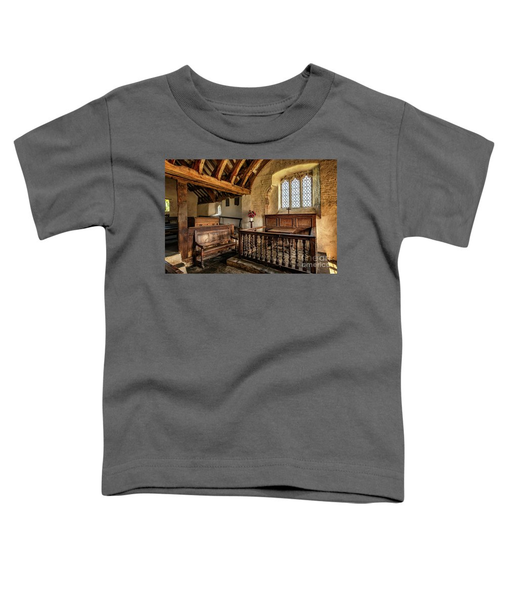 Ancient Chapel Toddler T-Shirt featuring the photograph Llangelynnin Church by Adrian Evans