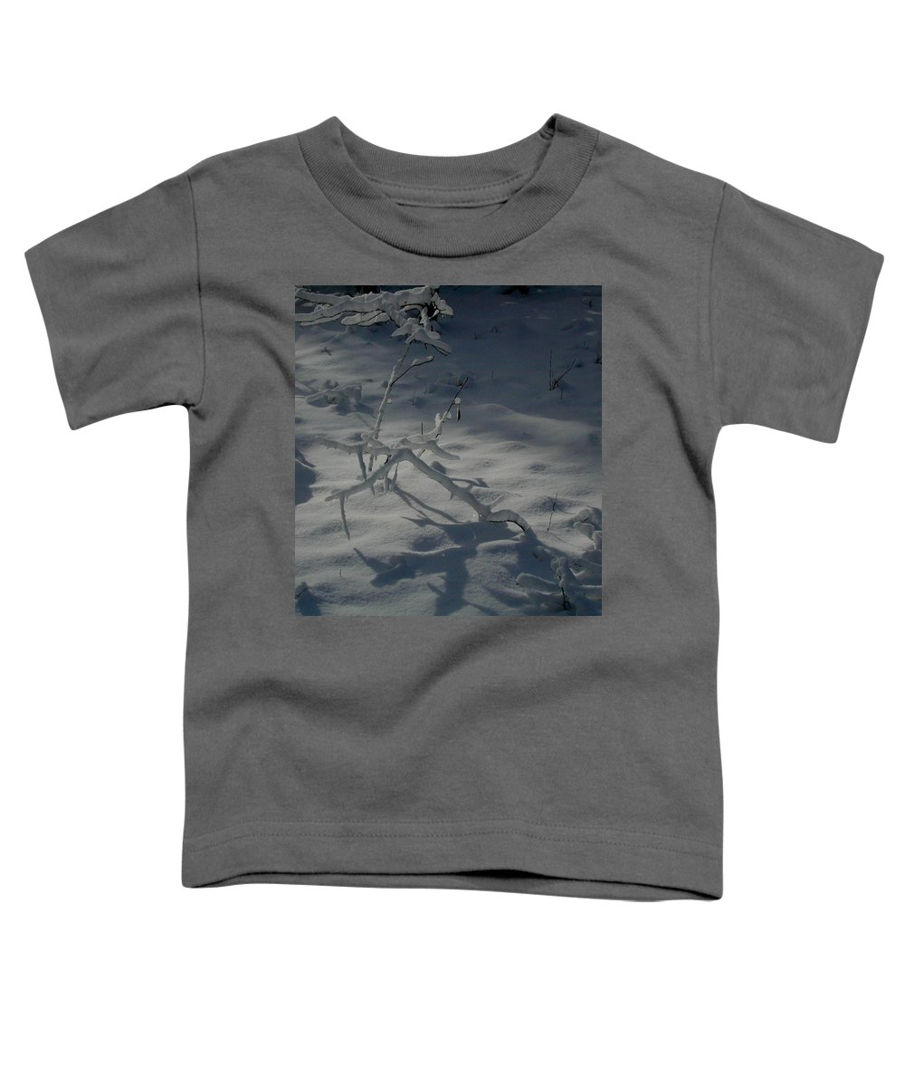 Loneliness Toddler T-Shirt featuring the photograph Loneliness In The Cold by Douglas Barnett