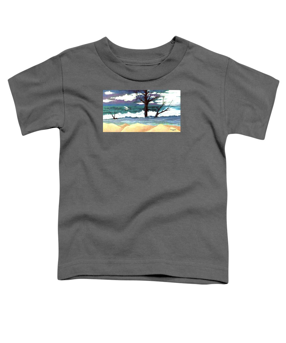 Original Watercolor Painting Toddler T-Shirt featuring the painting Lost Swan by Patricia Griffin Brett