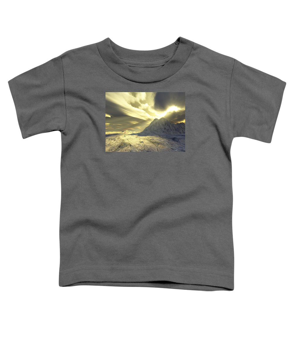 Loved Toddler T-Shirt featuring the digital art Loved - Never Forgotten by Jennifer Kathleen Phillips