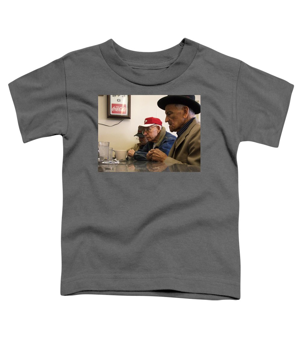 Diner Toddler T-Shirt featuring the photograph Lunch Counter Boys by Tim Nyberg