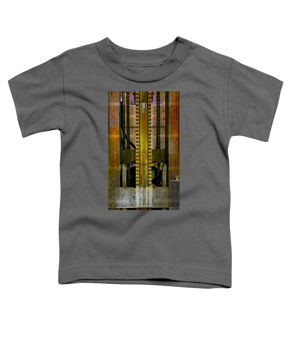 Texture Toddler T-Shirt featuring the photograph Machina by Skip Hunt