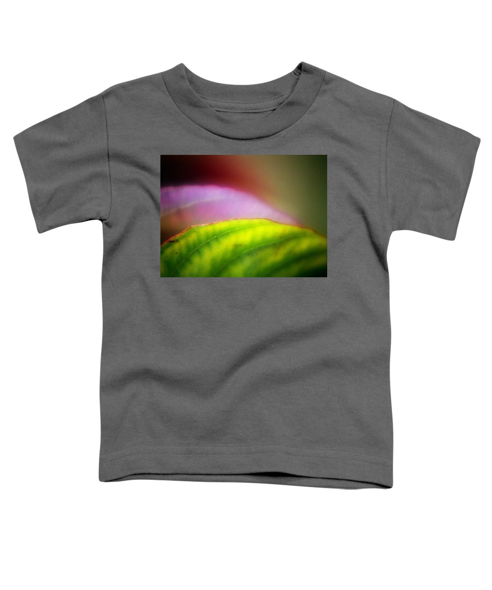 Macro Toddler T-Shirt featuring the photograph Macro Leaf by Lee Santa