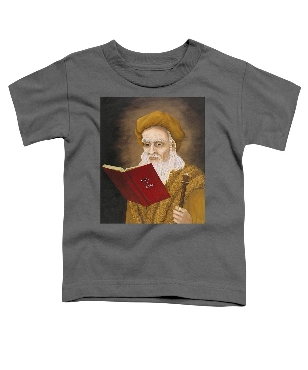 Magic Toddler T-Shirt featuring the painting Magic Of Alton by Roz Eve