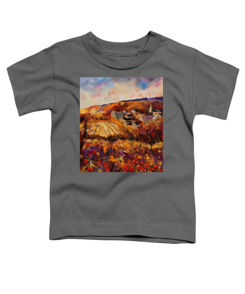 Poppies Toddler T-Shirt featuring the painting Maissin by Pol Ledent
