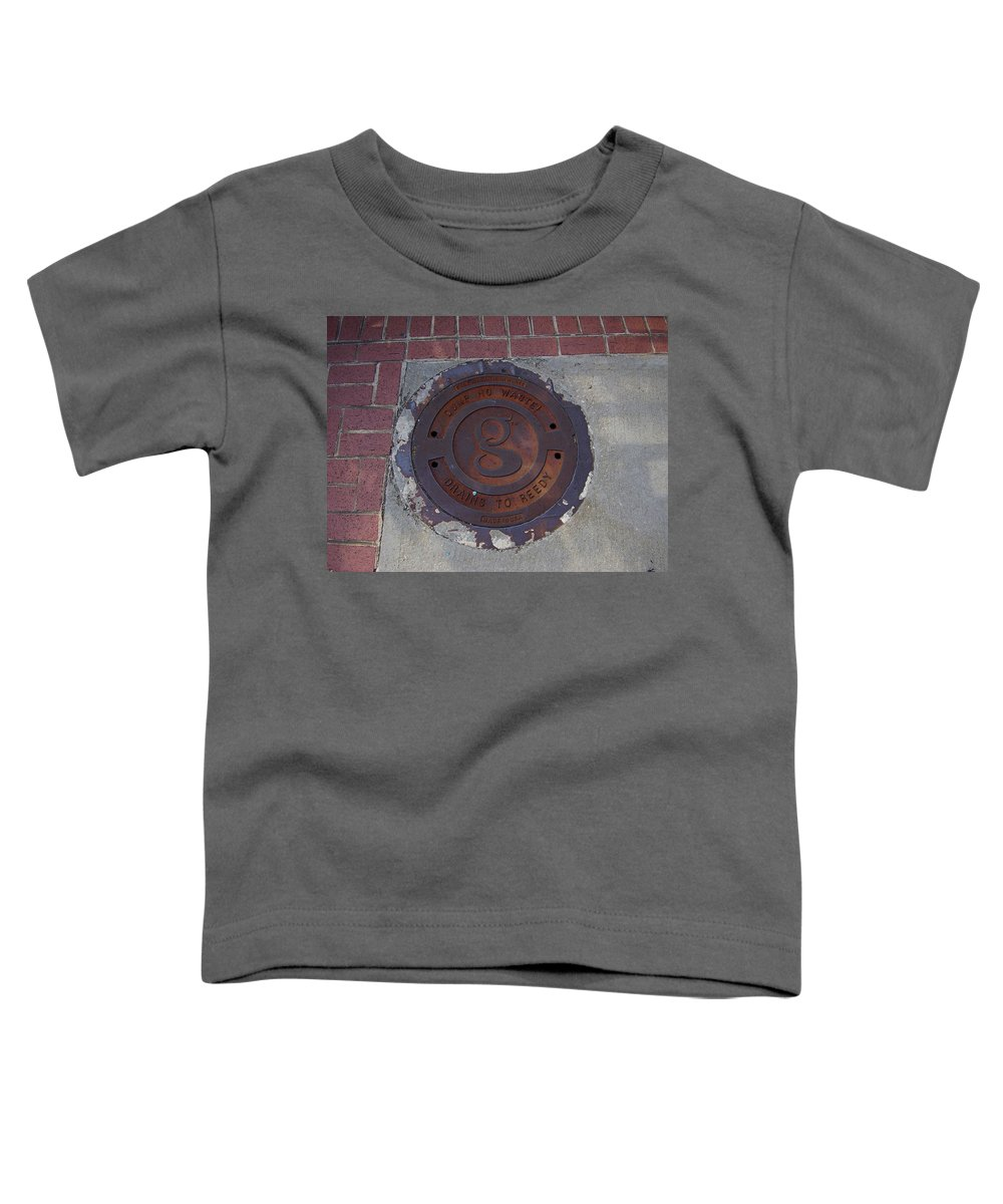 Manhole Toddler T-Shirt featuring the photograph Manhole II by Flavia Westerwelle