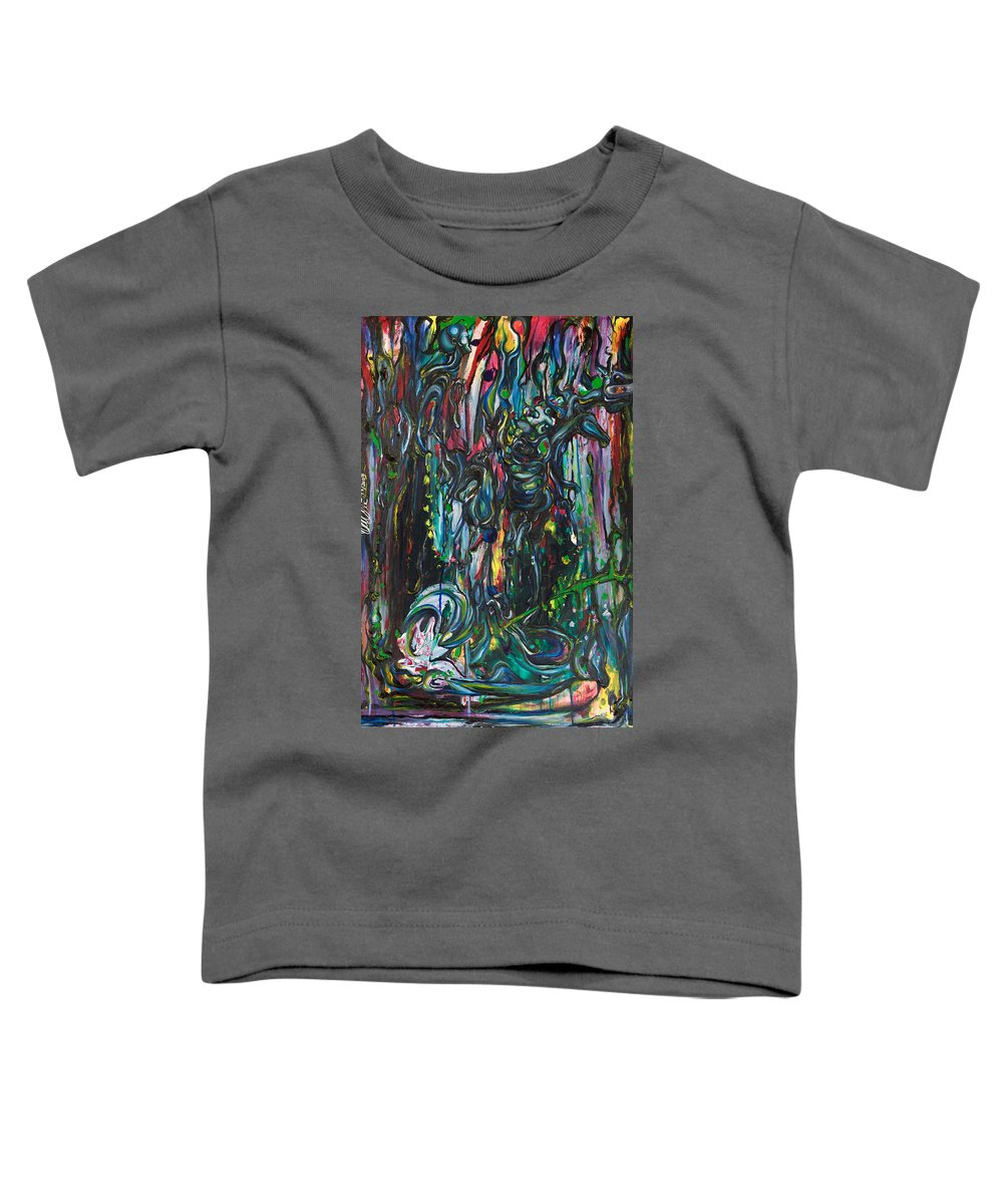 Surreal Toddler T-Shirt featuring the painting March Into The Sea by Sheridan Furrer