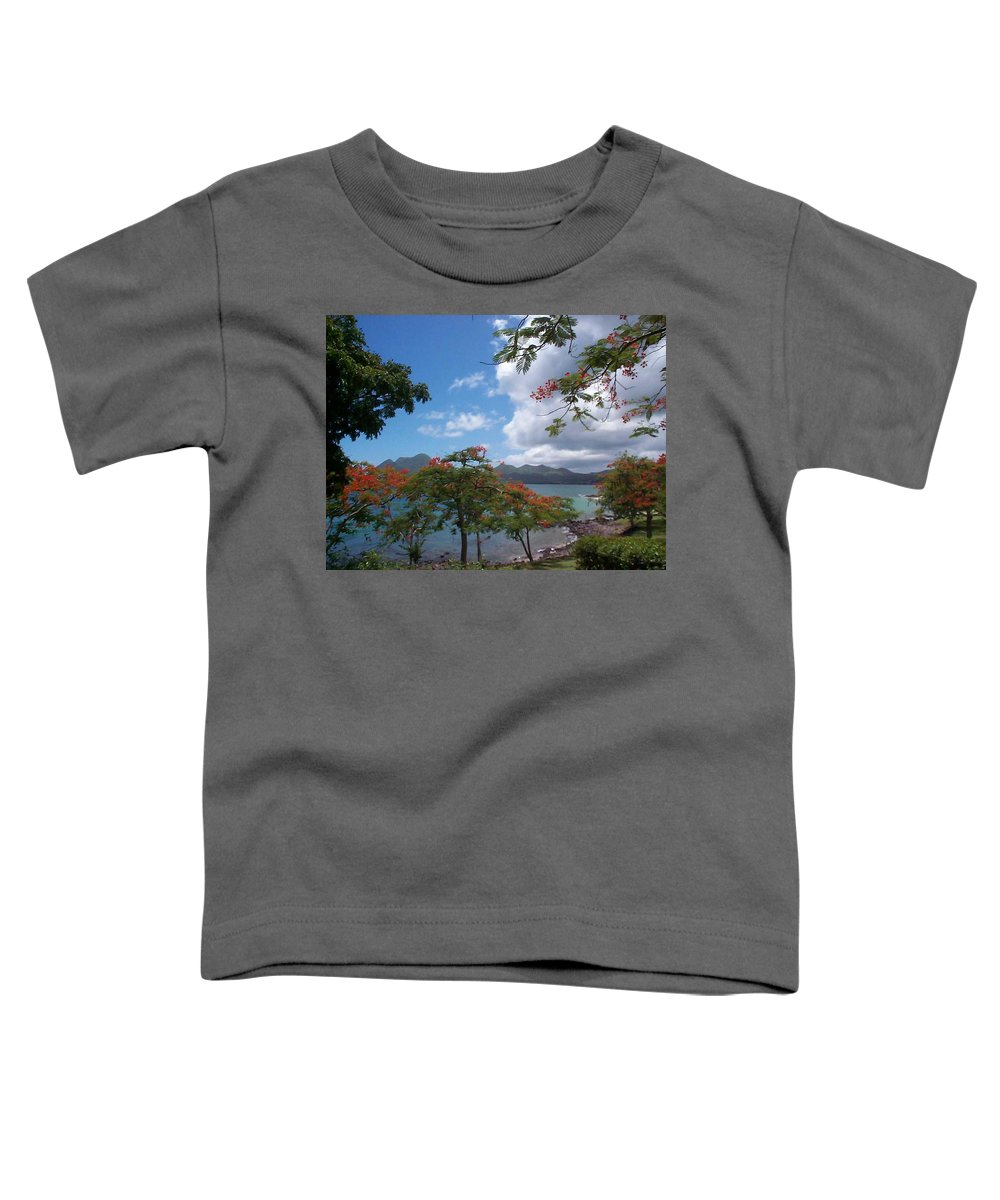 Donation Toddler T-Shirt featuring the photograph Martinique by Mary-Lee Sanders