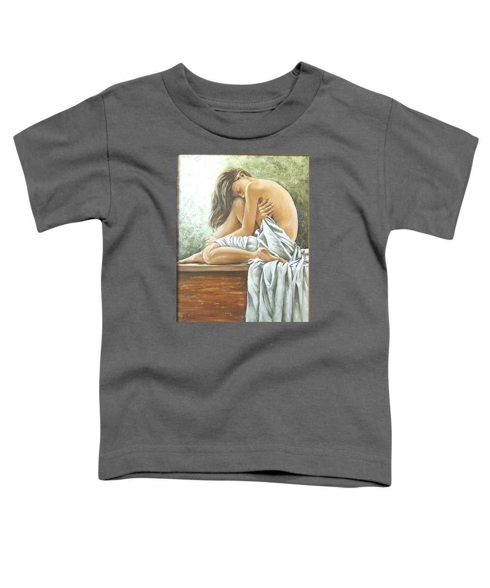 Gir Toddler T-Shirt featuring the painting Melancholy by Natalia Tejera