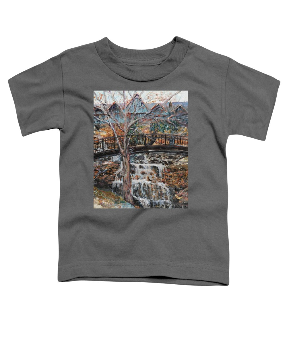 Waterfalls Toddler T-Shirt featuring the painting Memories by Nadine Rippelmeyer
