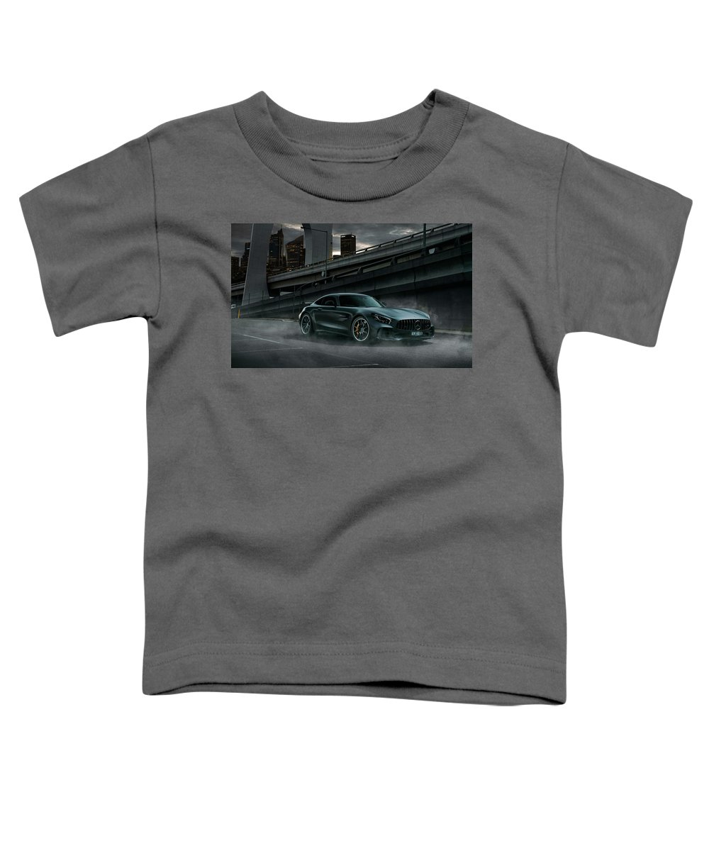 Mercedes Toddler T-Shirt featuring the pyrography Mercedes A M G G T R Dark by Movie Poster Prints