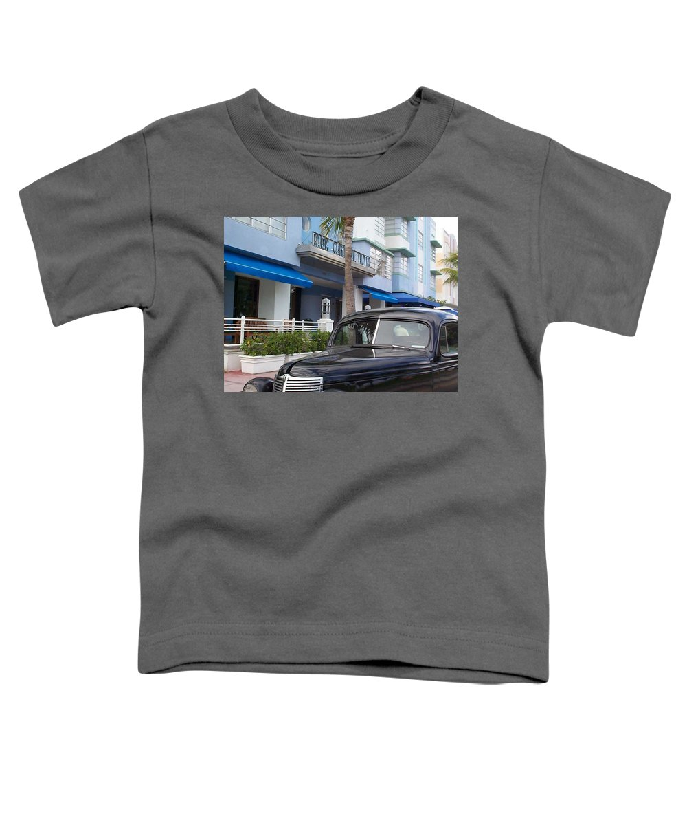 Charity Toddler T-Shirt featuring the photograph Miami Beach by Mary-Lee Sanders