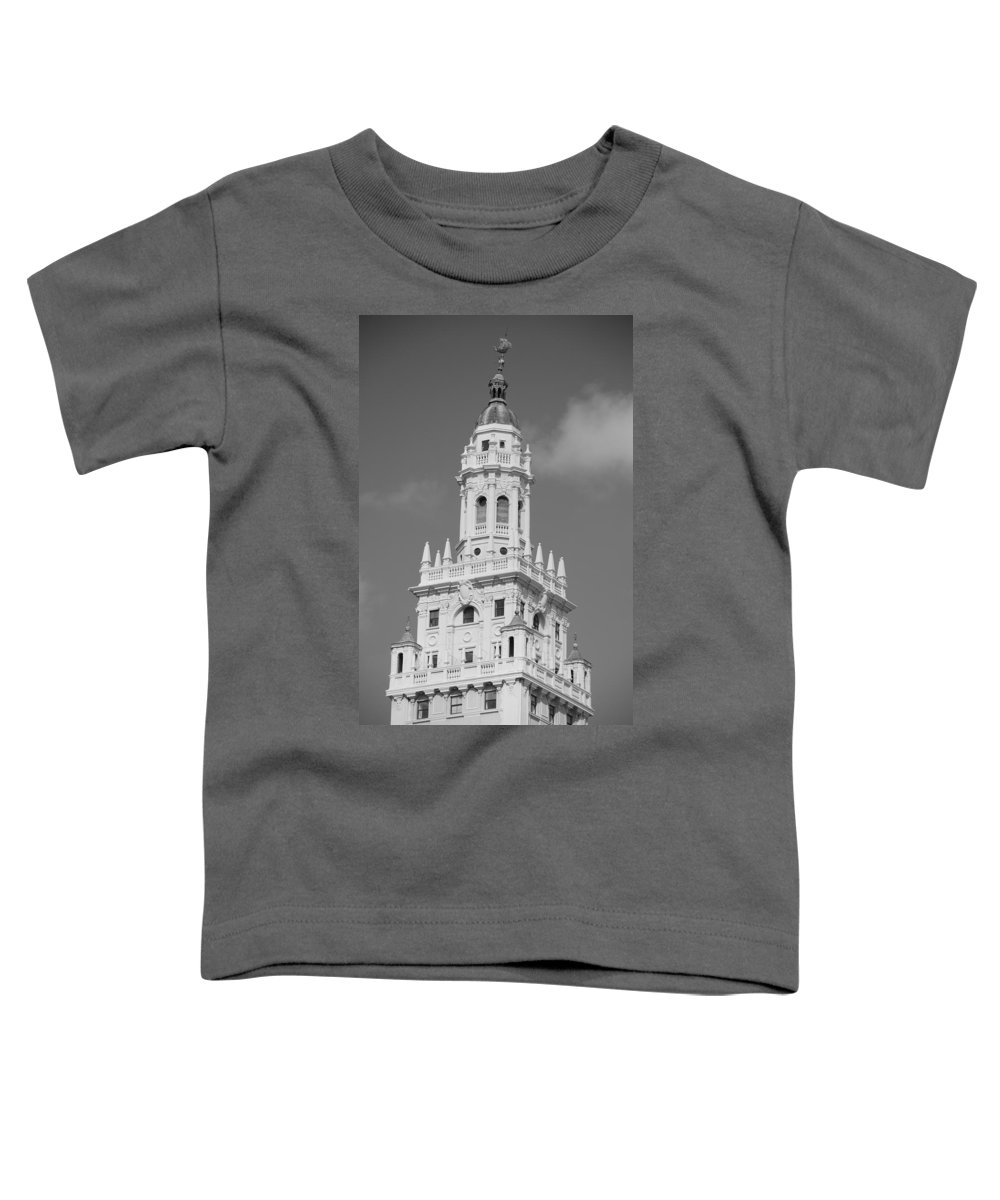 Architecture Toddler T-Shirt featuring the photograph Miami Tower by Rob Hans