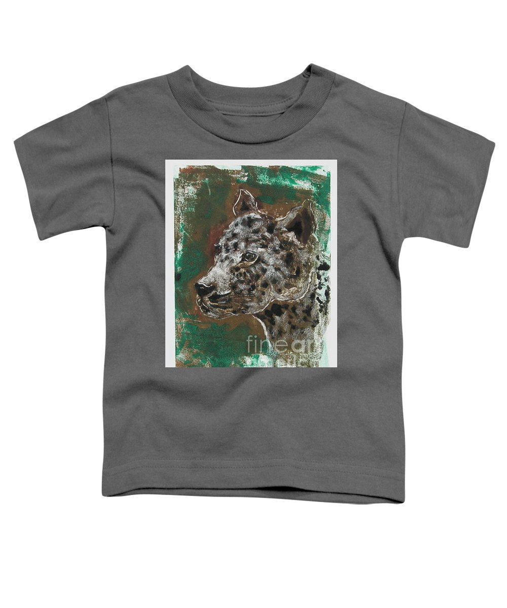 Monotype Toddler T-Shirt featuring the mixed media Midnight Prowler by Cori Solomon