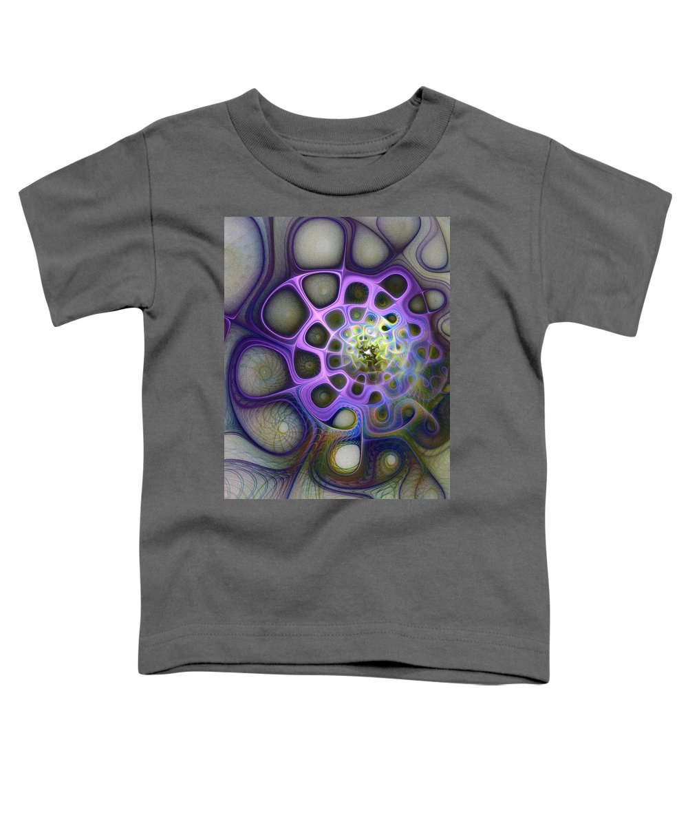 Digital Art Toddler T-Shirt featuring the digital art Mindscapes by Amanda Moore