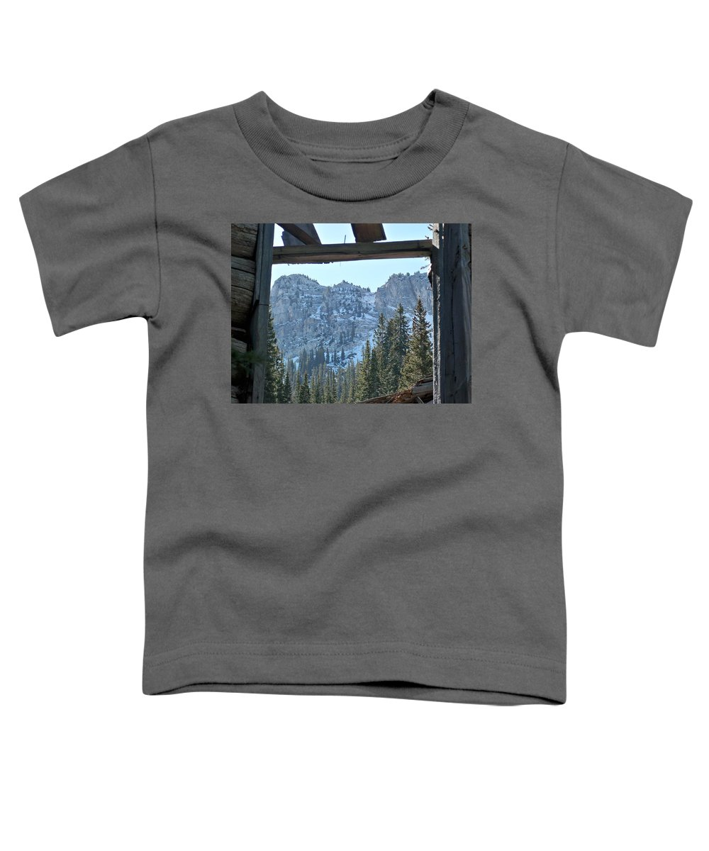 Mountain Toddler T-Shirt featuring the photograph Miners Lost View by Michael Cuozzo