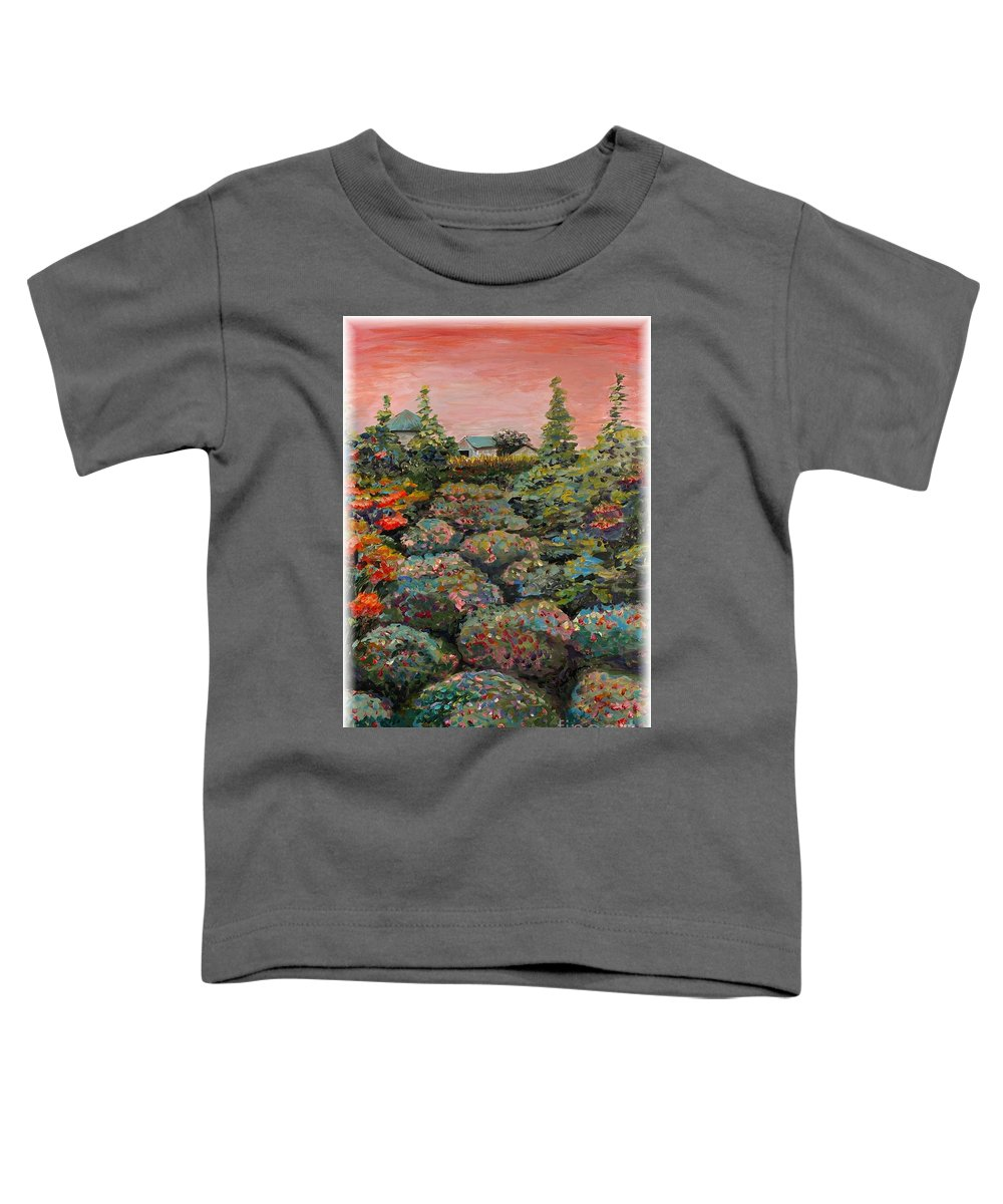 Minnesota Toddler T-Shirt featuring the painting Minnesota Memories by Nadine Rippelmeyer