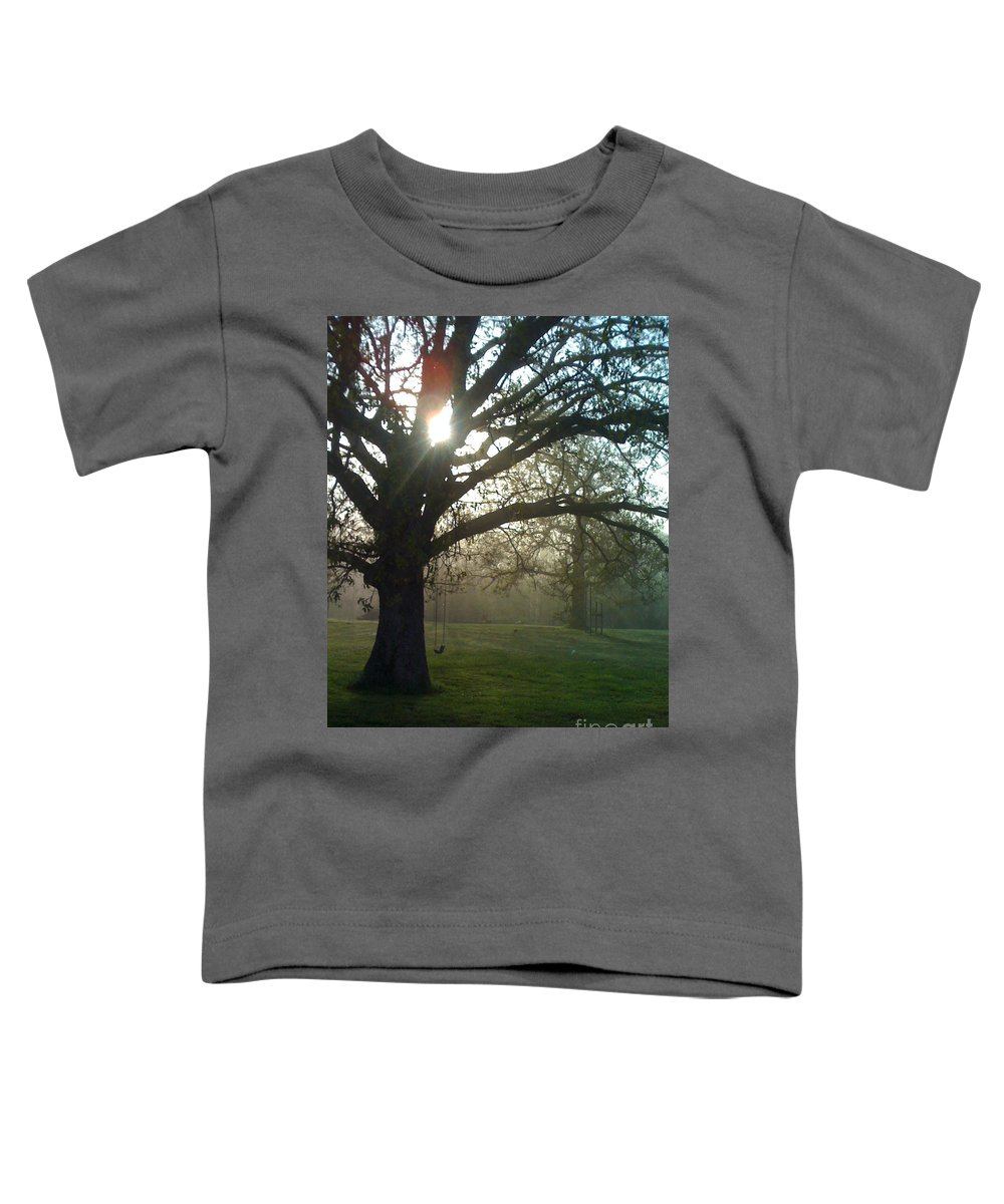 Mist Toddler T-Shirt featuring the photograph Misty Morning by Nadine Rippelmeyer