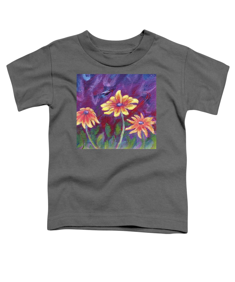 Small Acrylic Painting Toddler T-Shirt featuring the painting Monet's Small Composition by Jennifer McDuffie