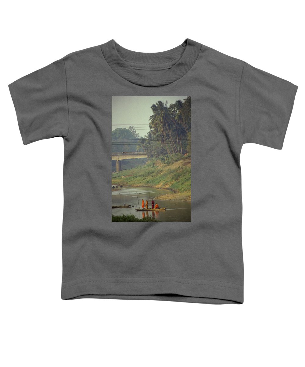 Monks Toddler T-Shirt featuring the photograph Monks - Battambang by Patrick Klauss